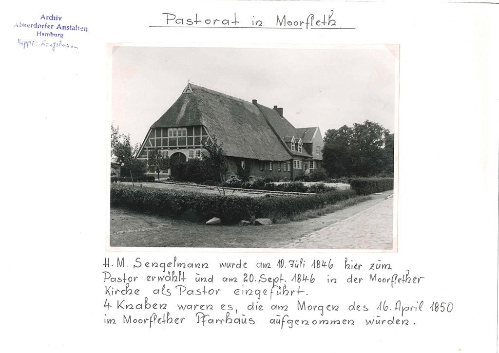 Pastorat in Moorfleet 1846-1850