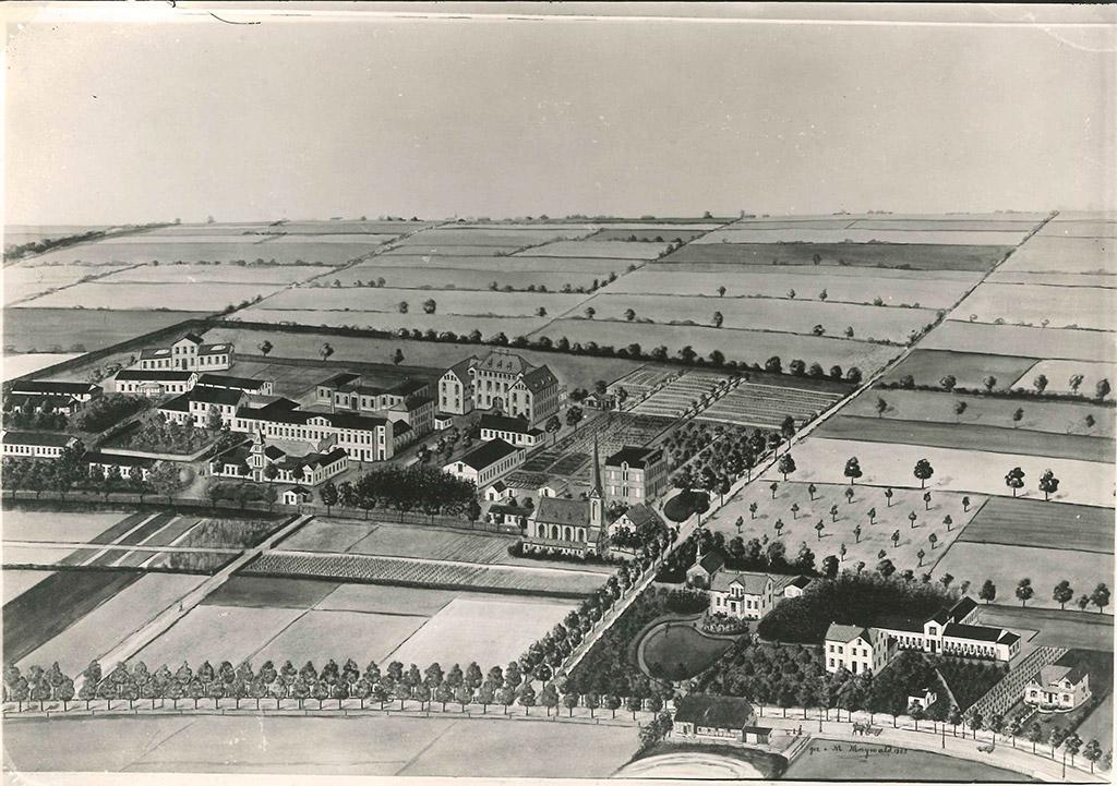 Die damaligen Alsterdorfer Anstalten um 1900