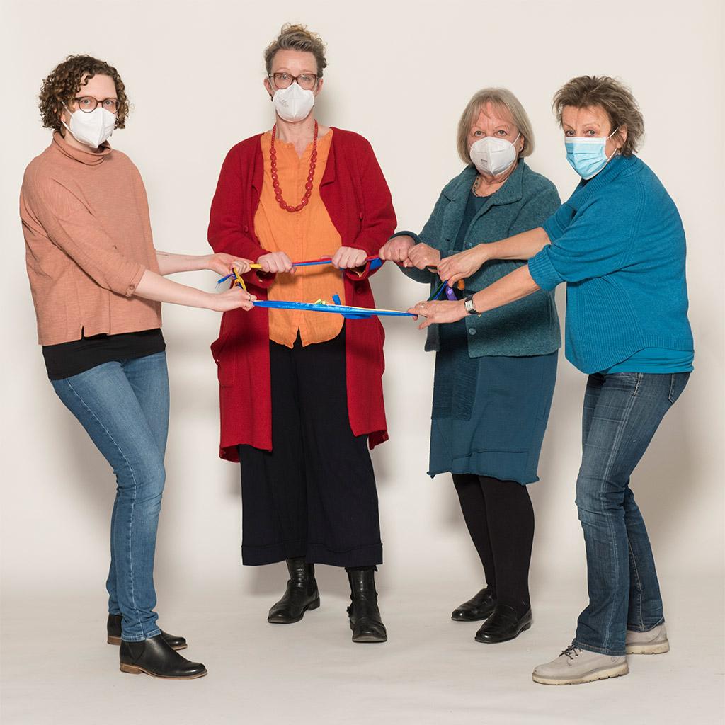 Kennen sich mit der Lösung von Konflikten aus: v.l.n.r. Christina Bornhöft, Christine Bargstedt, Waltraut Greiser, Claudia Orgaß - Foto von Axel Nordmeier